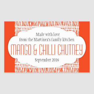 Jam stickers for Chutney label templates