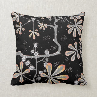 Mango Frost Flower Throw Pillow