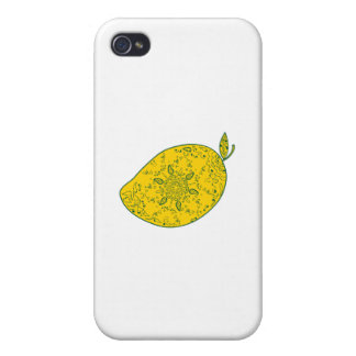 Mango Fruit Mandala Covers For iPhone 4