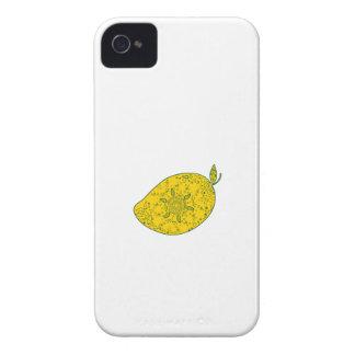 Mango Fruit Mandala iPhone 4 Case-Mate Cases