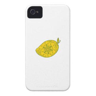 Mango Fruit Mandala iPhone 4 Cases
