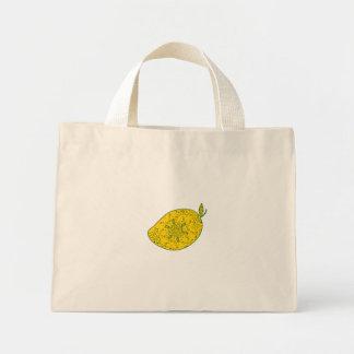 Mango Fruit Mandala Mini Tote Bag