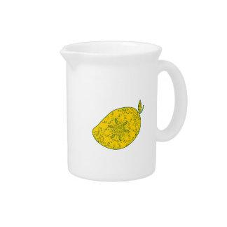 Mango Fruit Mandala Pitcher