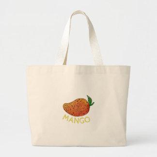 Mango Juicy Fruit Mandala Large Tote Bag