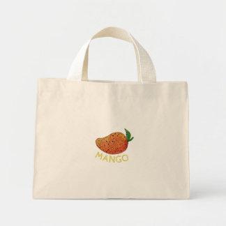 Mango Juicy Fruit Mandala Mini Tote Bag