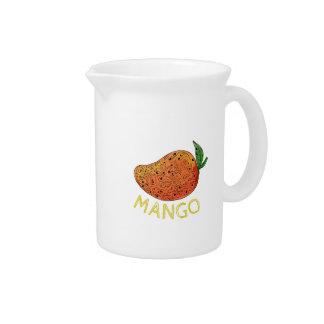 Mango Juicy Fruit Mandala Pitcher