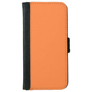 Mango Orange Color Background ready to customize iPhone 6 Wallet Case