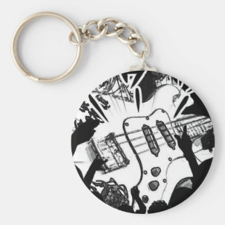 Mango rock holl basic round button key ring