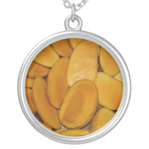 Mango slices personalized necklace