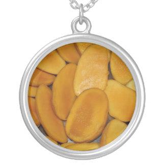 Mango slices round pendant necklace