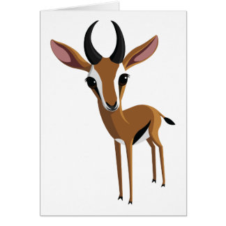 Mango the Gazelle Card