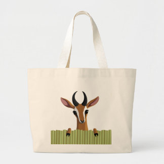 Mango the Gazelle Large Tote Bag