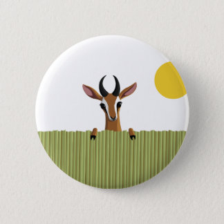 Mango the Gazelle Peek-a-boo 6 Cm Round Badge