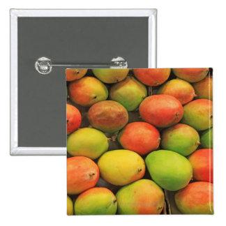Mangos, Spain, Catalonia, Barcelona, La Boqueria 15 Cm Square Badge