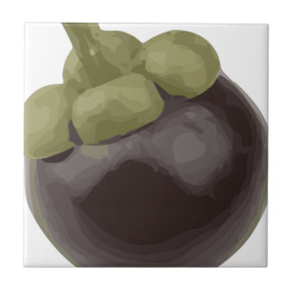 Mangosteen Natures Sweet Fruit Small Square Tile