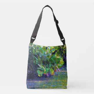 Mangrove Lagoon with Sea Grapes Crossbody Bag