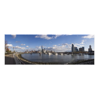Manhattan and Jersey City Skyline Harbor View Art Photo