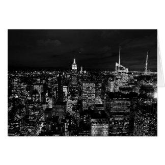 Manhattan at Night Card