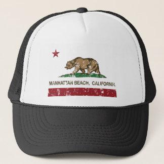 Manhattan Beach California state Flag Trucker Hat