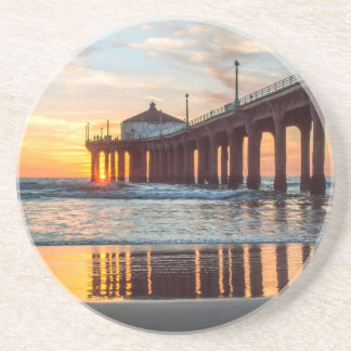 Manhattan Beach Pier Sunset Coaster