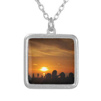 Manhattan Beach Silver Plated Necklace