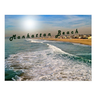 Manhattan Beach Waves Postcard