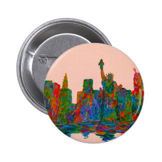 Manhattan Beauty 6 Cm Round Badge
