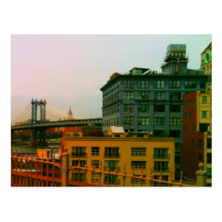 Manhattan Bridge and Empire State Building Postcard