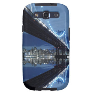 Manhattan Bridge and Manhattan skyline At Night Samsung Galaxy S3 Covers