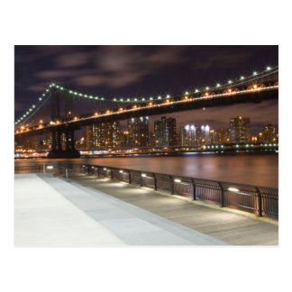 Manhattan Bridge and NYC Skyline Postcard