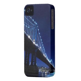 Manhattan Bridge and Skyline At Night iPhone 4 Cases