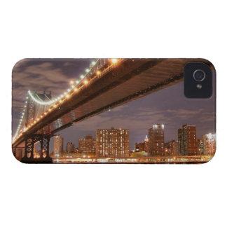 Manhattan Bridge and Skyline At Night iPhone 4 Case-Mate Case
