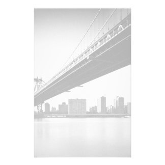 Manhattan Bridge and skyline, New York, US. Personalised Stationery