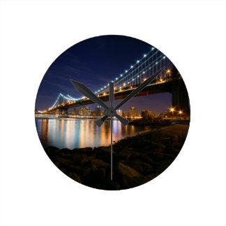 Manhattan Bridge at Night Wallclock