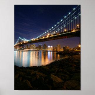 Manhattan Bridge at Night Print