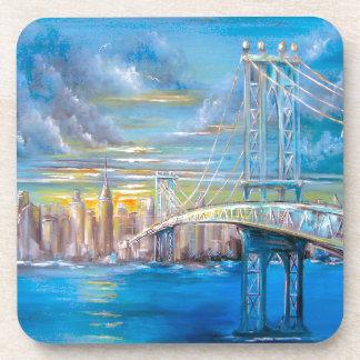 Manhattan Bridge Beverage Coaster