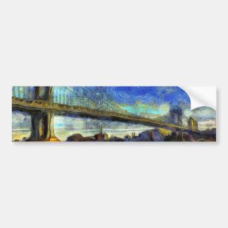Manhattan Bridge New York Art Bumper Sticker