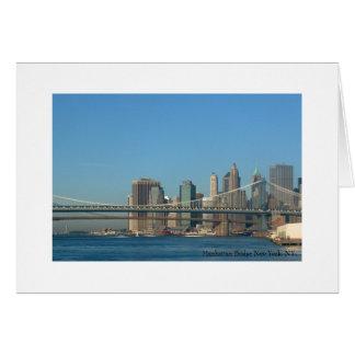Manhattan Bridge New York, NY. Card