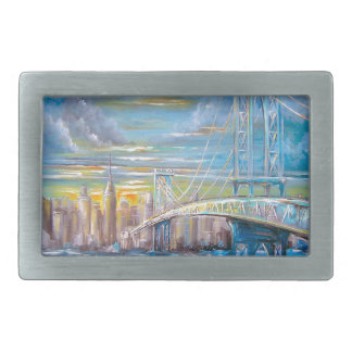 Manhattan Bridge Rectangular Belt Buckles