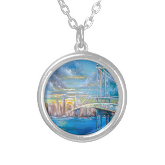 Manhattan Bridge Silver Plated Necklace