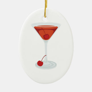 Manhattan Cocktail Ceramic Ornament