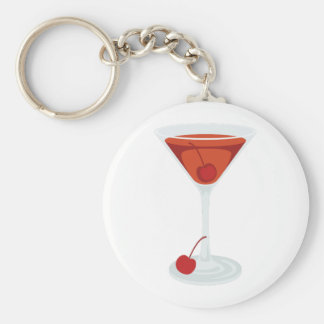 Manhattan Cocktail Key Ring
