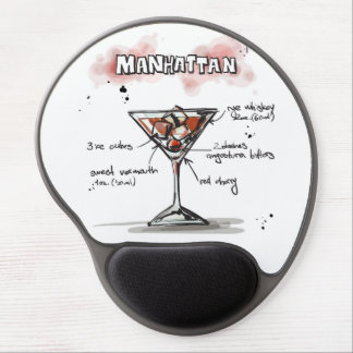 Manhattan Drink Recipe Design Gel Mouse Mat