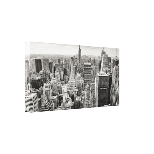 Manhattan from Above Stretched Canvas Print
