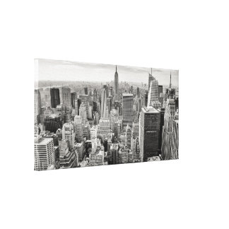 Manhattan from Above Stretched Canvas Prints