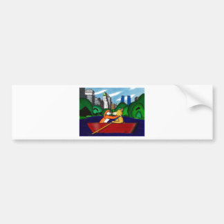 Manhattan Kiss Bumper Sticker