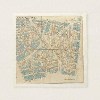 Manhattan Map Disposable Serviette
