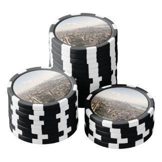 Manhattan New York Aerial View Poker Chips