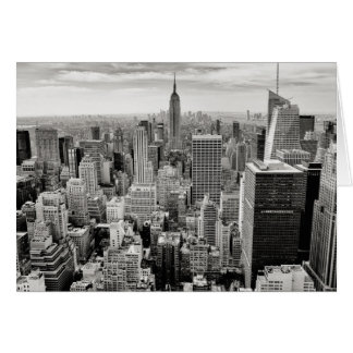 Manhattan, New York (black & white panorama) Card