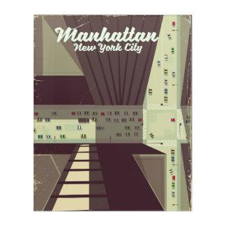 Manhattan New York City Travel poster. Acrylic Print